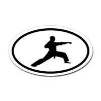 Karate Oval Bumper Sticker #10