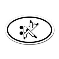 Karate Oval Bumper Sticker #12