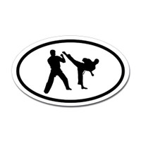 Karate Oval Bumper Sticker #13