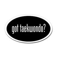Karate Oval Bumper Sticker #17
