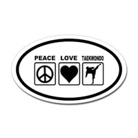 Karate Oval Bumper Sticker #18