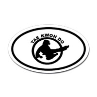 Karate Oval Bumper Sticker #21
