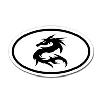Karate Oval Bumper Sticker