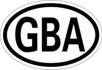 Country Registration Oval Bumper Sticker - Alderney