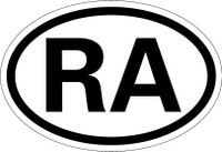 Country Registration Oval Bumper Sticker - Argentina