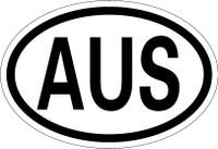 Country Registration Oval Bumper Sticker - Australia
