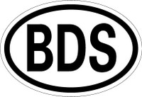Country Registration Oval Bumper Sticker - Barbados