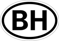 Country Registration Oval Bumper Sticker - Belize