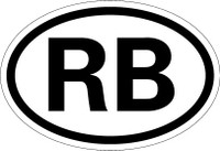 Country Registration Oval Bumper Sticker - Botswana