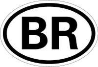 Country Registration Oval Bumper Sticker - Brazil
