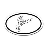 Karate Oval Bumper Sticker #5