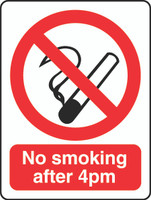 No Smoking After 4pm