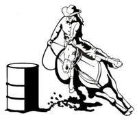Rodeo Barrel Racing Decal