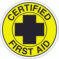 Certified First Aid Hardhat Sticker