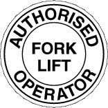 Authorised Fork Lift Operator Hardhat Sticker