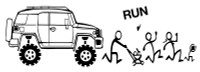 Toyota FJ Offroad Run Decal