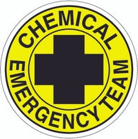 Chemical Emergency Team Hardhat Sticker