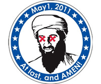 Osama Bin Laden Mission Accomplished Sticker