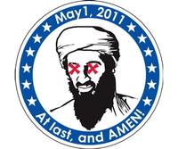 Osama Bin Laden Mission Accomplished Sticker