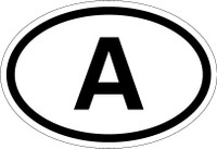 Country Registration Oval Bumper Sticker - Austria