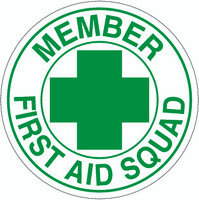 Member First Aid Squad Hardhat Sticker