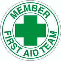 Member First Aid Team Hardhat Sticker