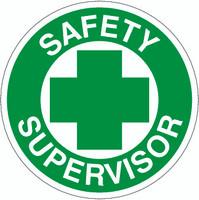 Safety Supervisor Hardhat Sticker