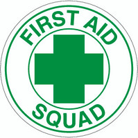 First Aid Squad Hardhat Sticker