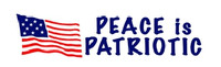 Peace Is Patriotic Sticker