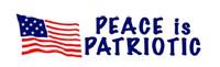 Peace Is Patriotic Sticker