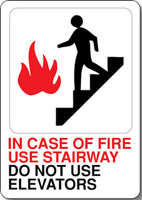 In Case Of Fire Use Stairway Do Not Use Elevators