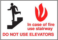 In Case Of Fire Use Stairway Do Not Use Elevators 1