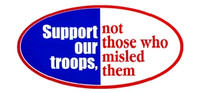 Support Our Troops Not Those Who Misled Them  (Oval)