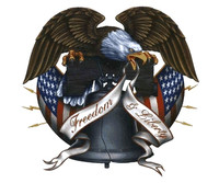 Bald Eagle Freedom & Liberty Sticker