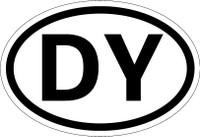 Country Registration Oval Bumper Sticker - Benin