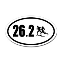 26.2 Oval Bumper Sticker #3