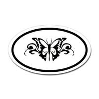 Butterfly Oval Bumper Sticker #23