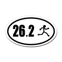 26.2 Oval Bumper Sticker #7