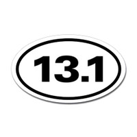 13.1 Oval Bumper Sticker #1