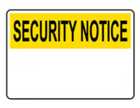 Customizable Security Notice Blank