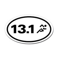 13.1 Oval Bumper Sticker #6