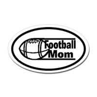 Football Mom Oval Bumper Sticker #2