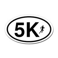 5K Oval Bumper Sticker