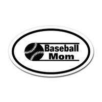 Baseball Mom Oval Bumper Sticker