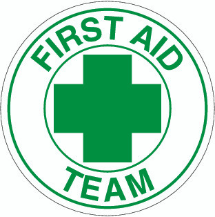 First Aid Team Hardhat Sticker