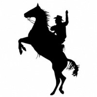 Cowboy On High Horse Decal