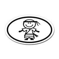 Karate Oval Bumper Sticker