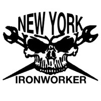New York Ironworker Skull Decal