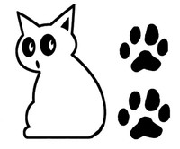 Boo Kitty Cat Windshield Wiper Decal With Paws