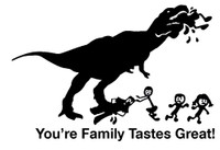 Dinosaur Stick Figure Eats Your Family